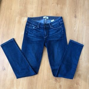 paige blue skinny jeans, only worn once!!